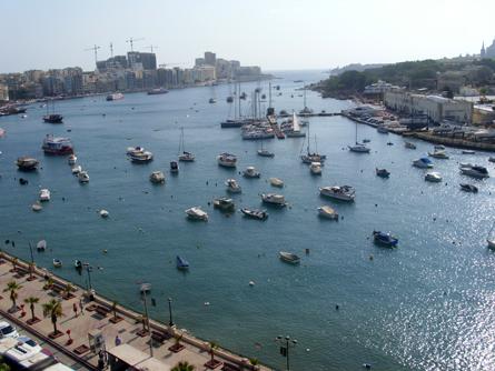 Blick auf die Bucht von Sliema