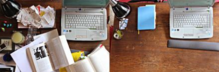 Wundersam aufgeräumter Schreibtisch