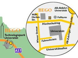Anfahrtsbeschreibung zur BEGO Bremer Goldschlägerei
