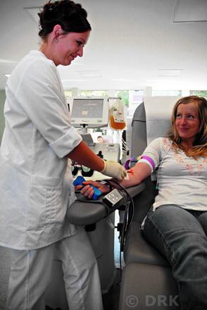 Blutspendeaktion am 31.10.2012 bei der BEGO im Technologiepark, nahe der Uni.