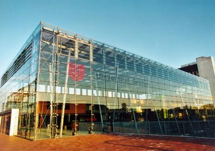 Glashalle - Zentrum des Campus Foto: Universität Bremen