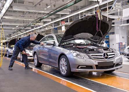 Automobilproduktion im Mercedes-Benz Werk Bremen. Foto: Daimler