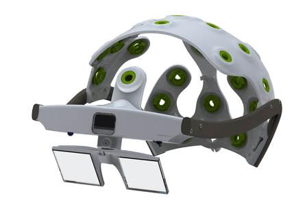 sBCI: Mit diesem Kopfschmuck kann die Mikrowelle bedient werden, ohne sich zu bewegen.