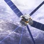 Schöner Radfahren mit dem Satelliten