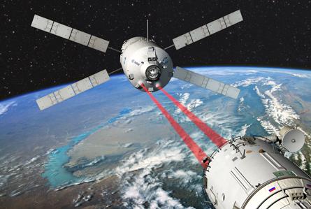 """Ein """"Rendezvous"""" im Weltraum ist immer eine heikle Angelegenheit, die mit höchster Präzision durchgeführt werden muss, wie hier von einem Raumtransporter an der ISS. Quelle: ESA"""