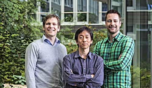 """Grigory Zabelin, Jayanta Gauchan und Tobias Kohler (von links) haben gemeinsam das Bremer Start-up """"Social Marketing Lab"""" gegründet. Grigory ist gebürtiger Russe und musste in Deutschland zunächst einige Hürden überspringen."""