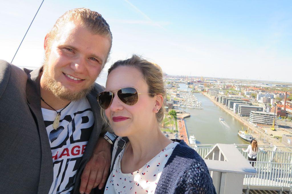 Hoch hinaus geht es in Bremerhaven auf eine 86 Meter hohe Aussichtsplattform. Campus-Aktuell-Bloggerin Insa hat sich getraut. (c) Insa Lohmann