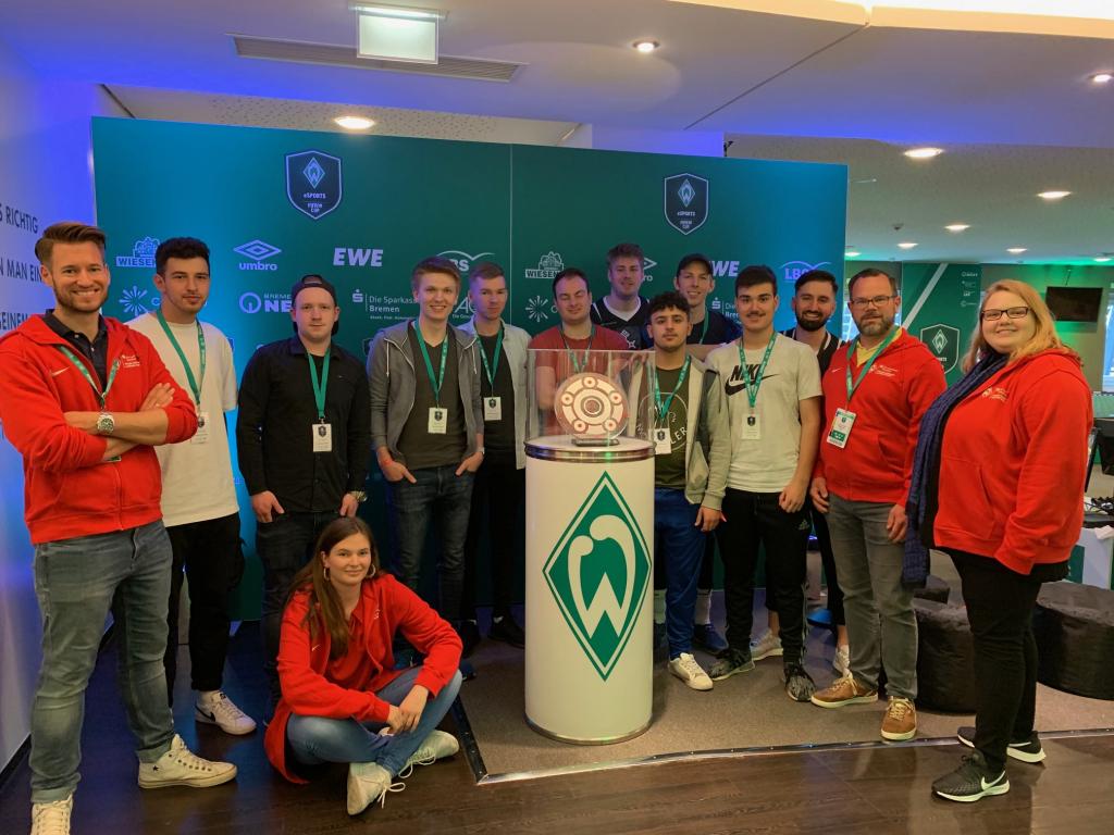 Finale des ersten eSports FIFA 19-Cups im Weserstadion